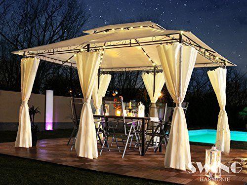 Seitenwände Mit LED Beleuchtung + Solarmodul Gartenpavillon Optional Mit  Moskitonetz Partyzelt Gartenzelt #Gartenpavillion #Partyzelt #Pavillion ...