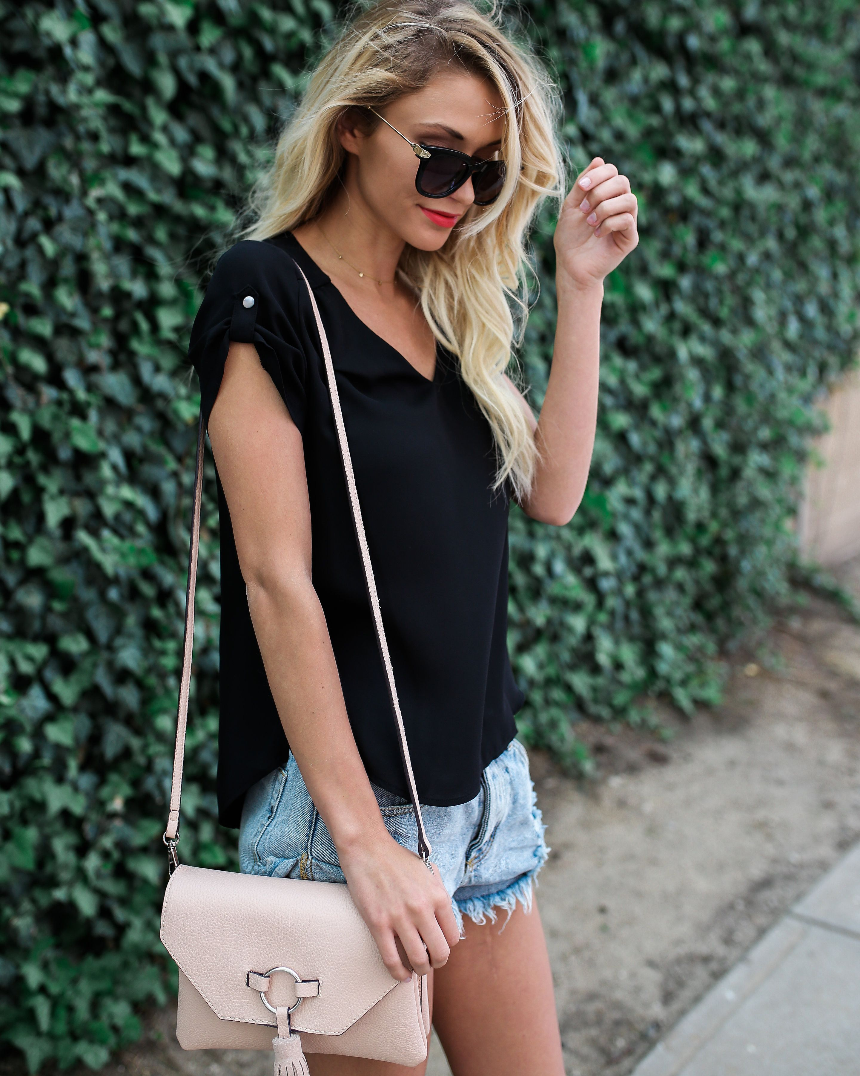 Top Notch Blouse - Black