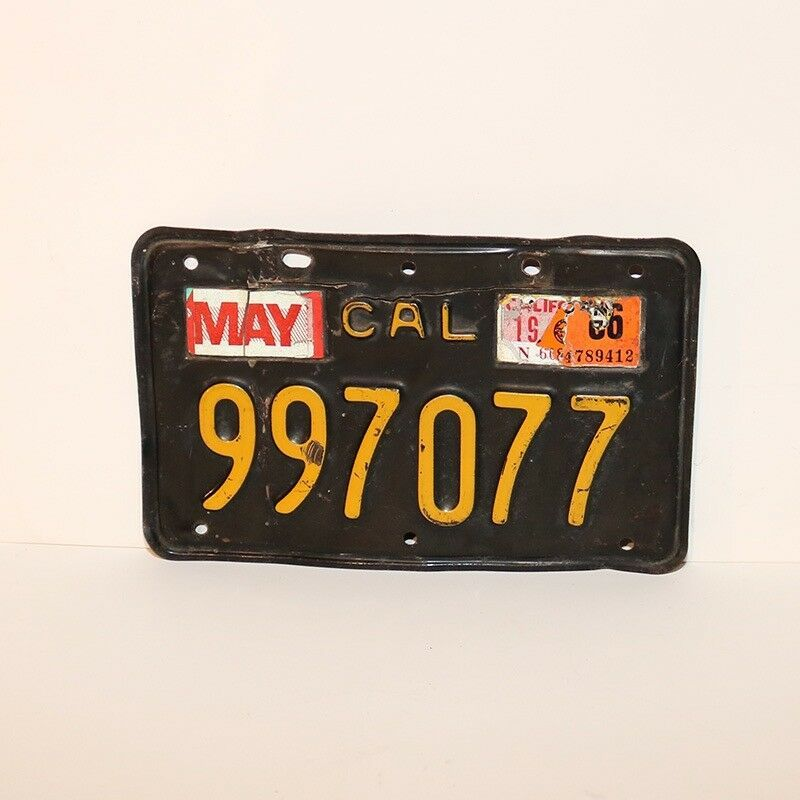1966 California Motorcycles License Plate Motorcycle