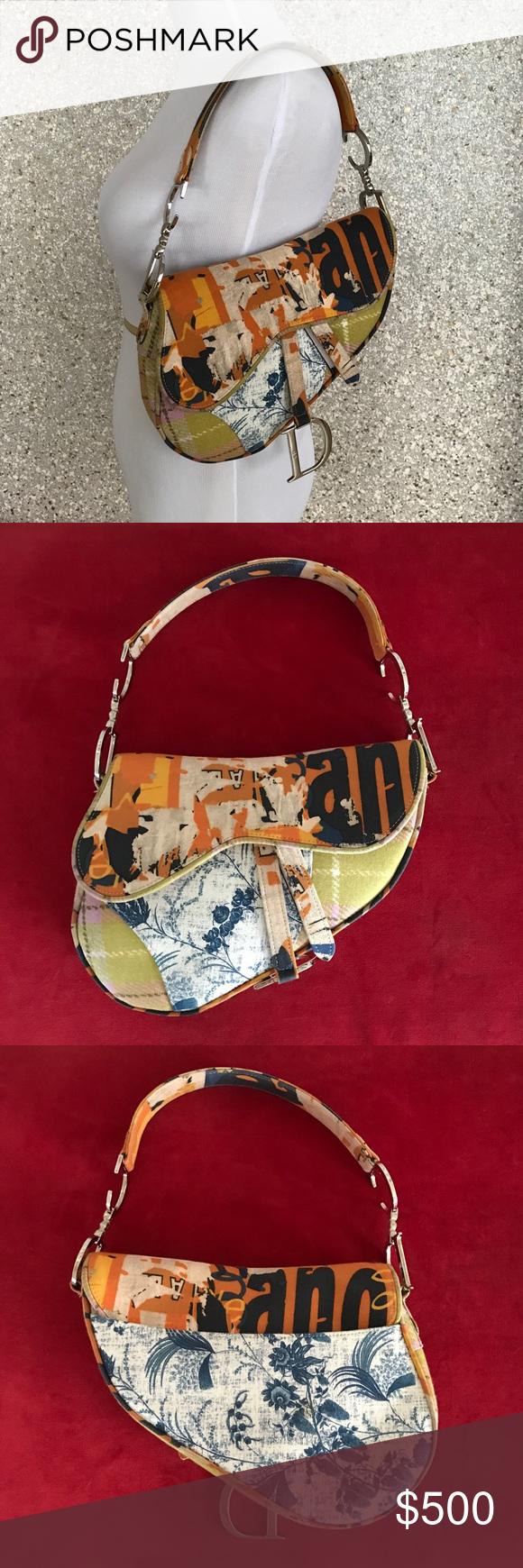 CHRISTIAN DIOR LIMITED EDITION CANVAS SADDLE BAG Rare Limited Edition