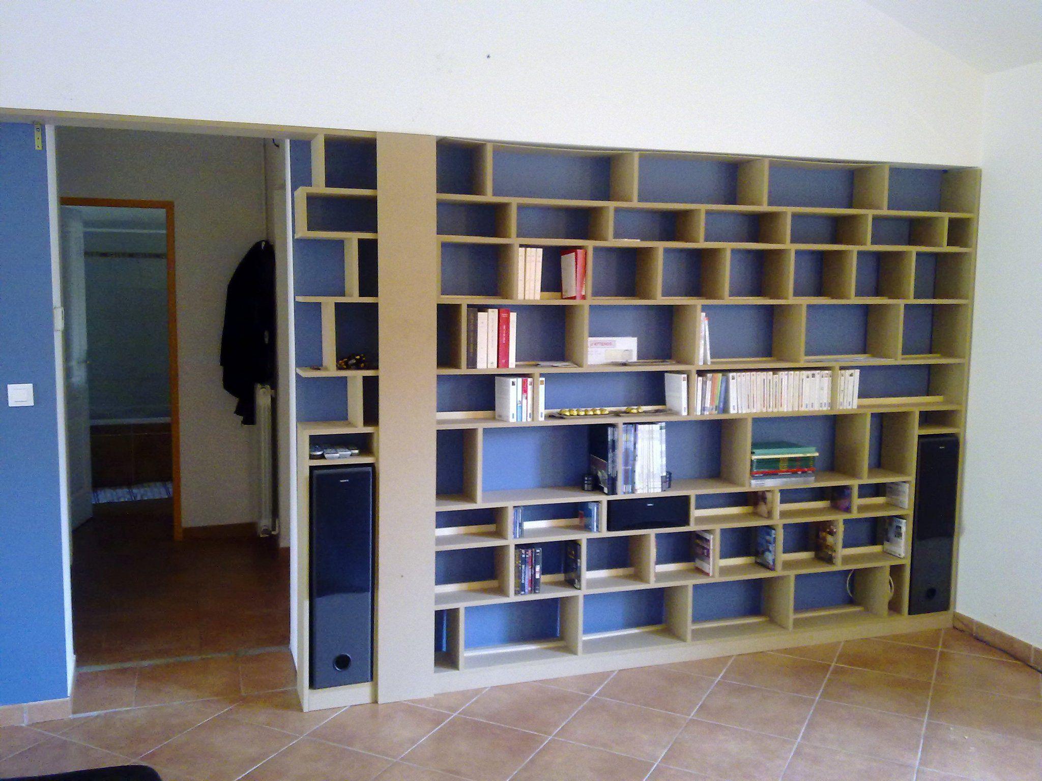 Bibliotheque Sur Mesure D Co Appart Mobilier Accessoires  # Fabriquer Bibliotheque Meuble Tv Rangement Ferme Sur Mesure