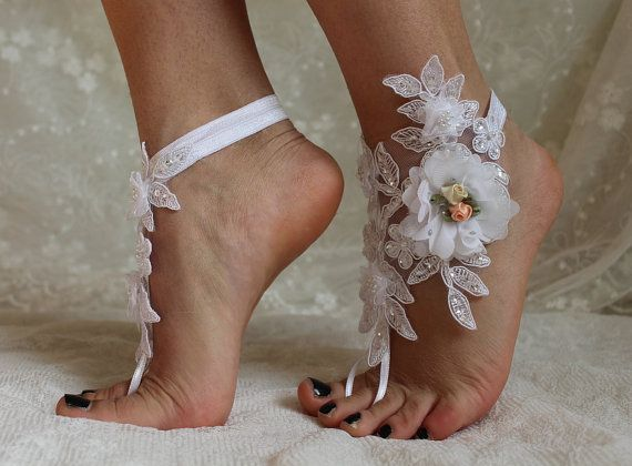 67d251fb977ee FREE SHİPP Beach Wedding Barefoot Sandals