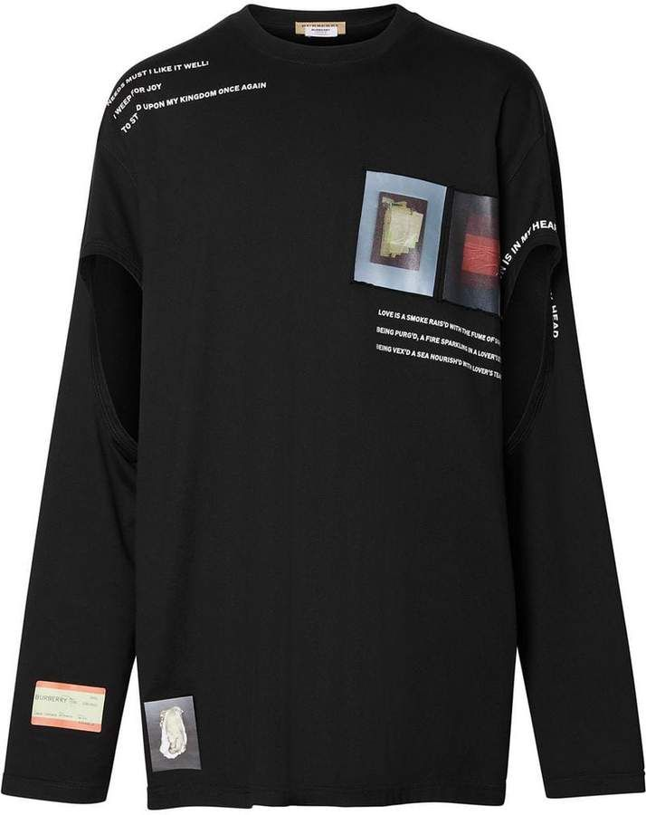 2f7127fd509 Burberry long-sleeve montage T-shirt in 2019 | MMM | Burberry, T ...