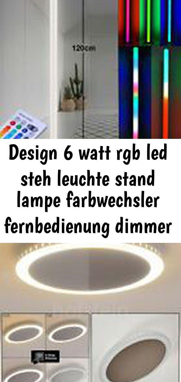 Design 6 Watt Rgb Led Steh Leuchte Stand Lampe Farbwechsler Fernbedienung Dimmer Decken Lampen Led Dimmbar Led Floor Lights Floor Lights Decorative Light Bulbs