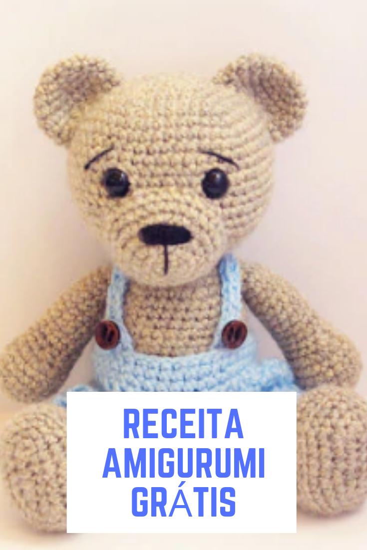 Urso da camiseta listrada | Bichinhos de croche, Amigurumi de ... | 1102x735