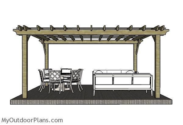 12x16 Pergola Plans Myoutdoorplans Free Woodworking Plans And Projects Diy Shed Wooden Playhouse Perg In 2020 Pergola Plans Pergola Plans Diy Building A Pergola