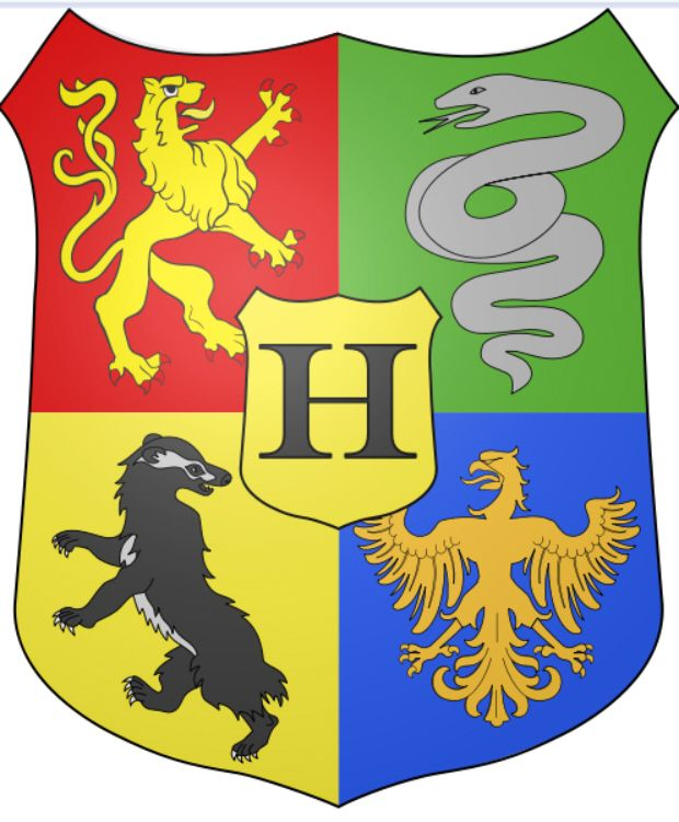 Harry Potter Hogwarts Houses Logos From Lego. Gryffindor Slytherin  Hufflepuff Ravenclaw
