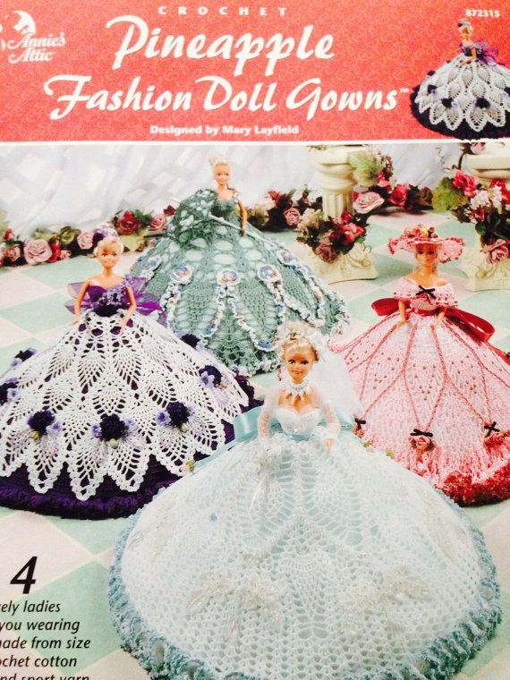 OOP New Annie\'s Crochet Pineapple 4 fashion doll by Allaboutthecat ...