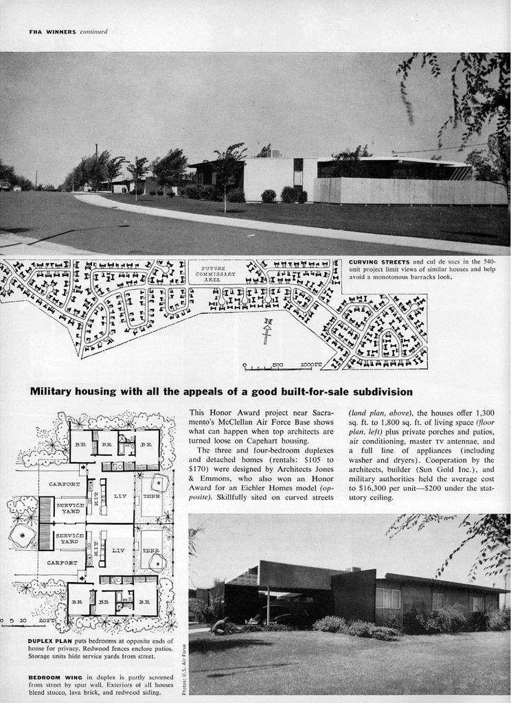 Capehart Housing aka McClellan AFB Family Housing