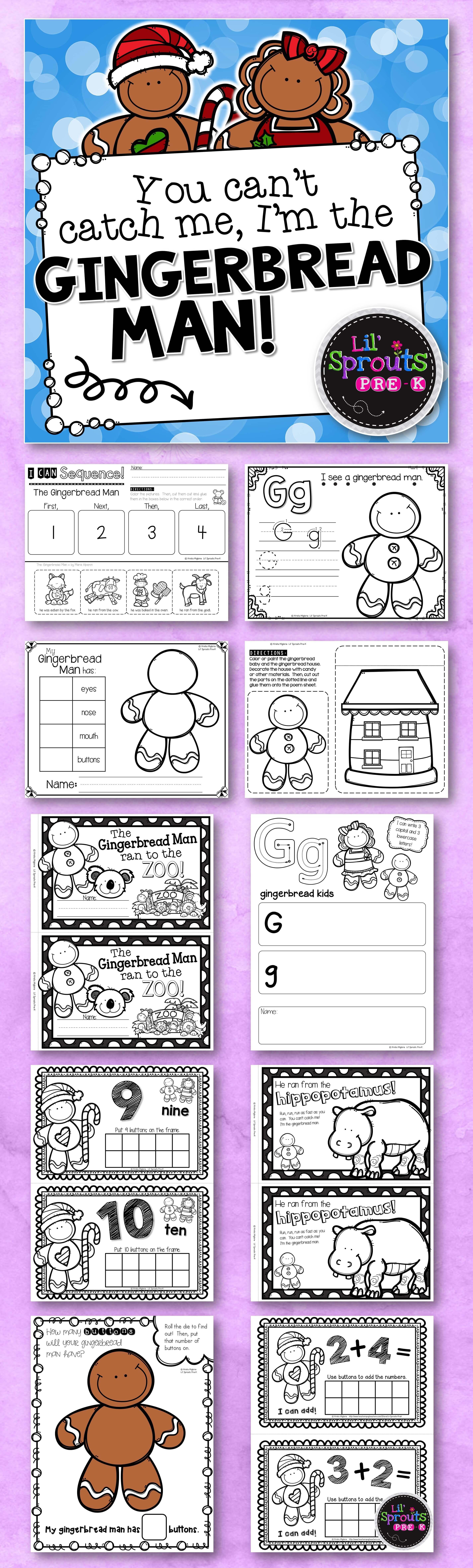 The Gingerbread Man Comprehensive Unit - Preschool, Pre-K/PreK ...