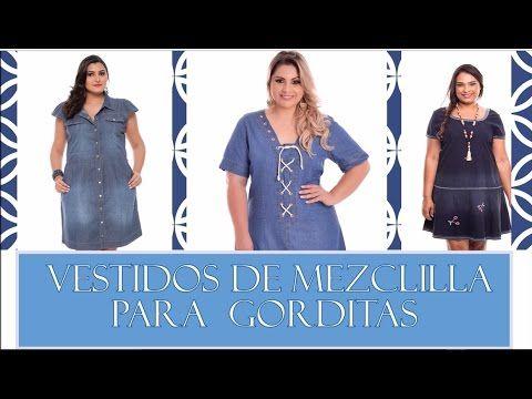 e05b69a665 Vestidos de mezclilla para gorditas -✿MODA PARA GORDITAS♥ - YouTube
