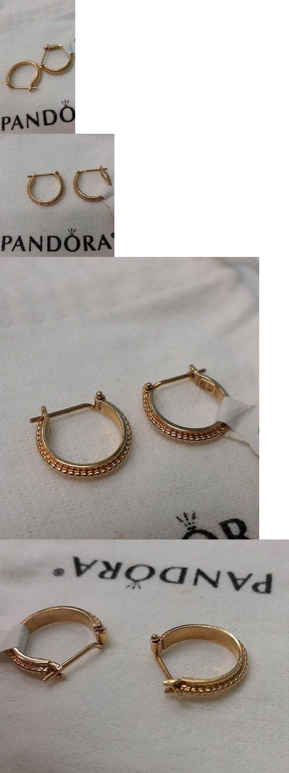 b73a1d7717e Other Fine Earrings 10984: Pandora | 14K Gold Sun Hoops Earrings ...