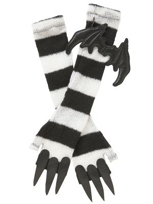 ■ Saw arm warmer knit mohair border with nails | KERA SHOP