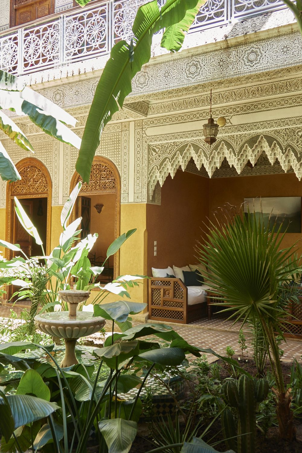 Patio Marocain Riad Jardin Secret Marrakech With Images
