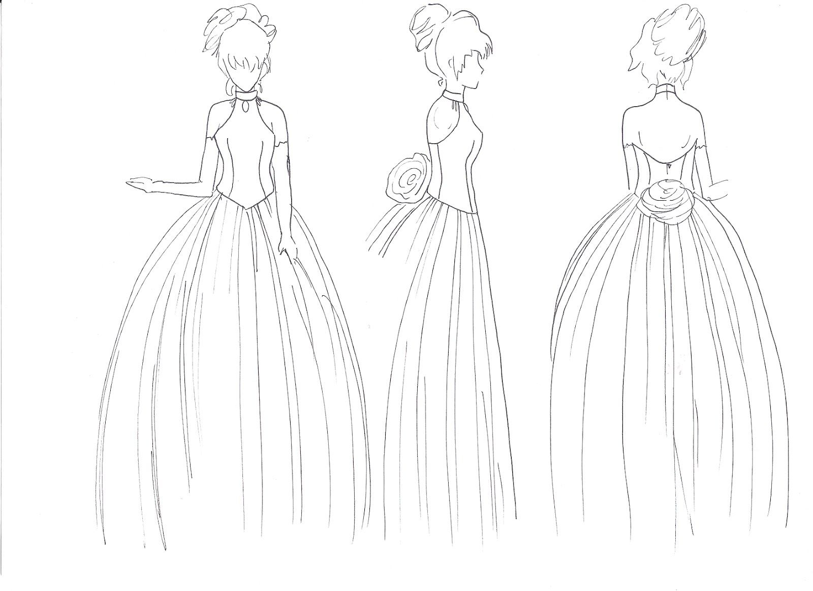 Como Dibujar Vestido De Princesa Como Dibujar Vestidos Como Dibujar Ropa Como Dibujar Manga