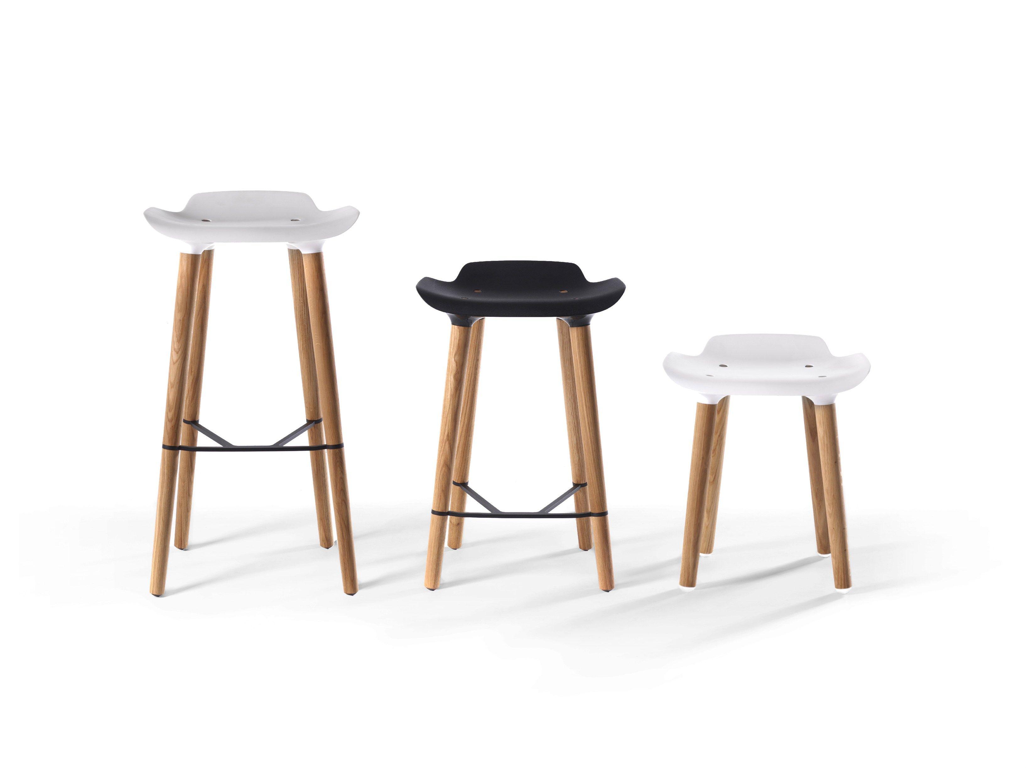 Wooden Stool Pilot Kitchen Stool By Quinze & Milan Design