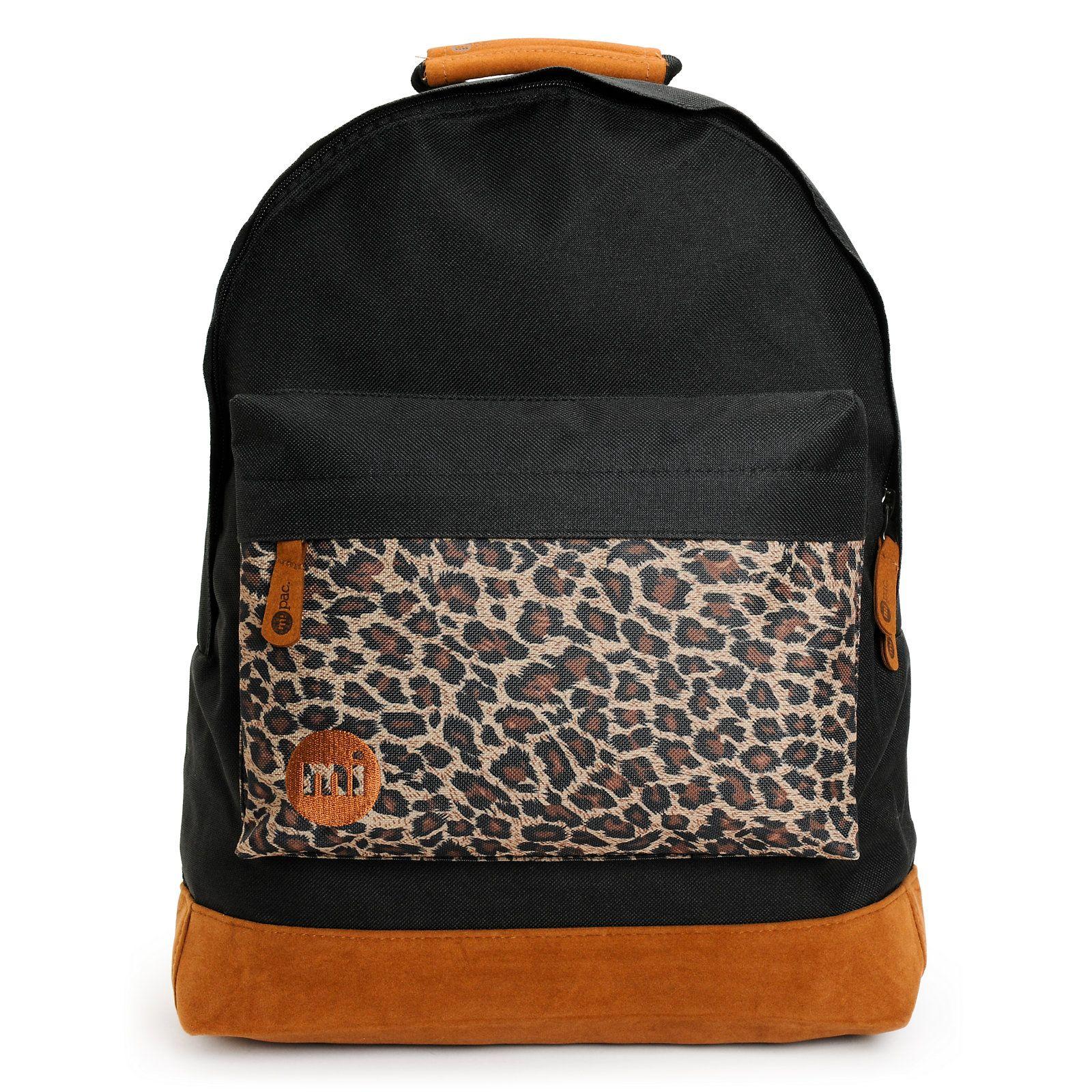 Mipac black u leopard backpack leopards backpacks and black body