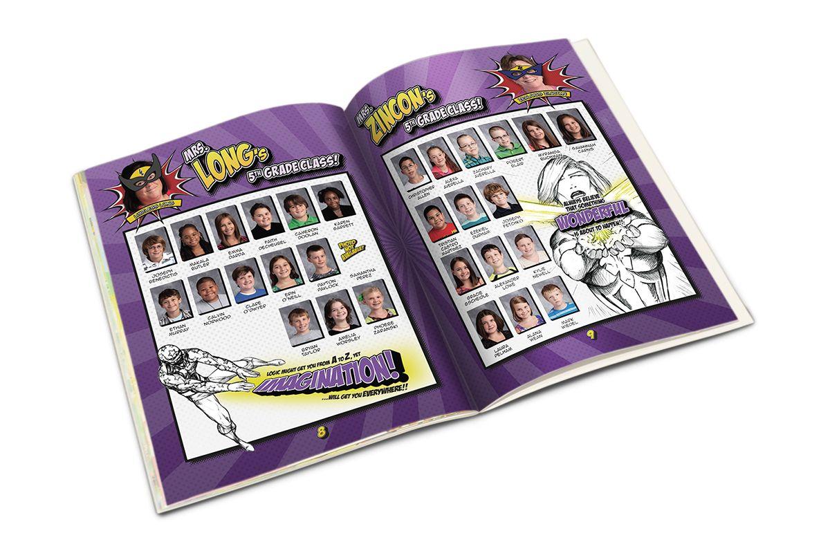 Elementary school yearbook design on behance yb club pinterest