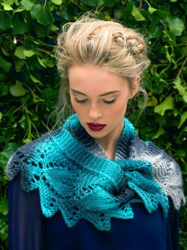 Frosted Leaves Cowl - Louisa Harding Frosted Leaves | Knitting ...