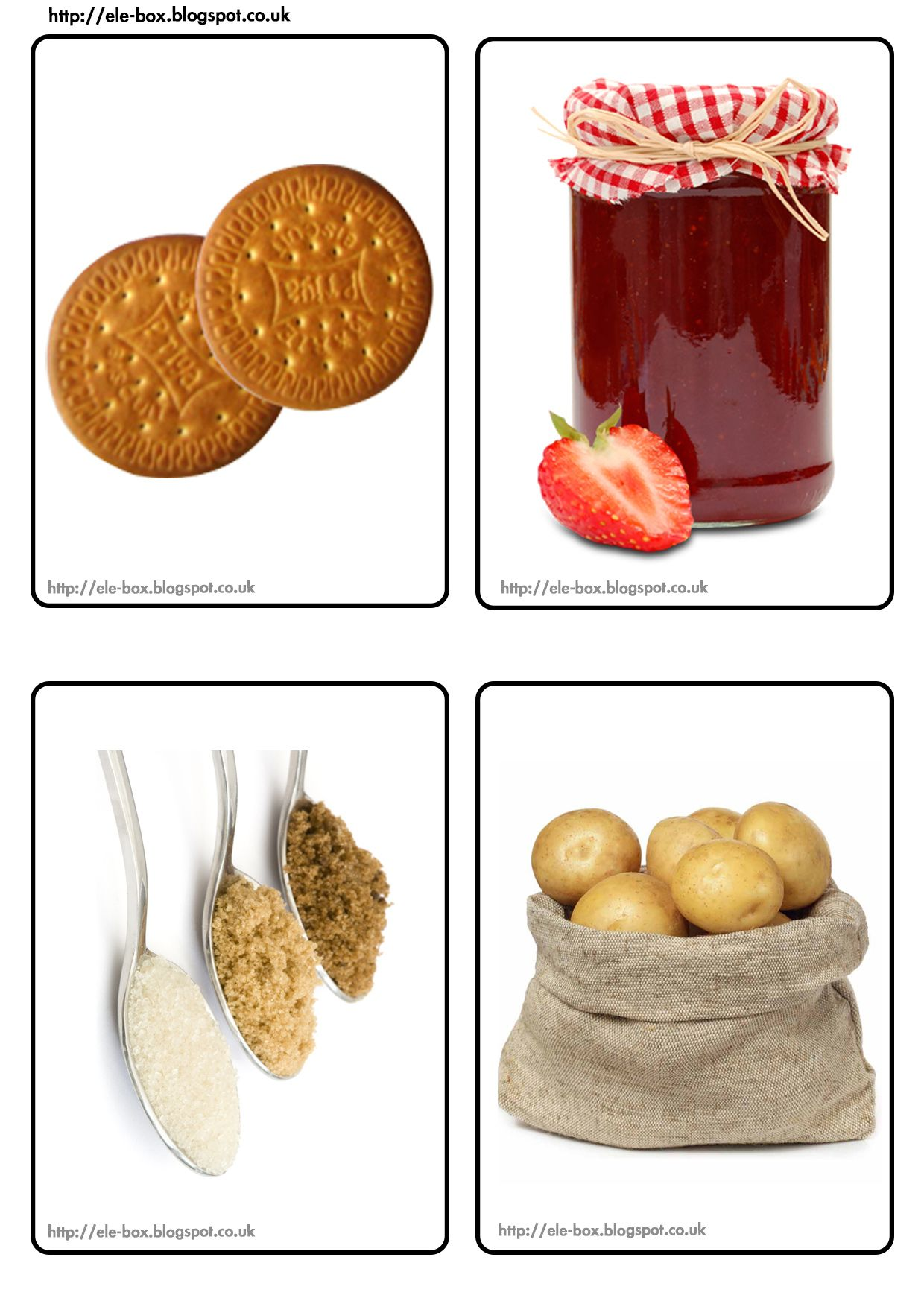 Alimentos En Formato A6 Para Realizar Diferentes