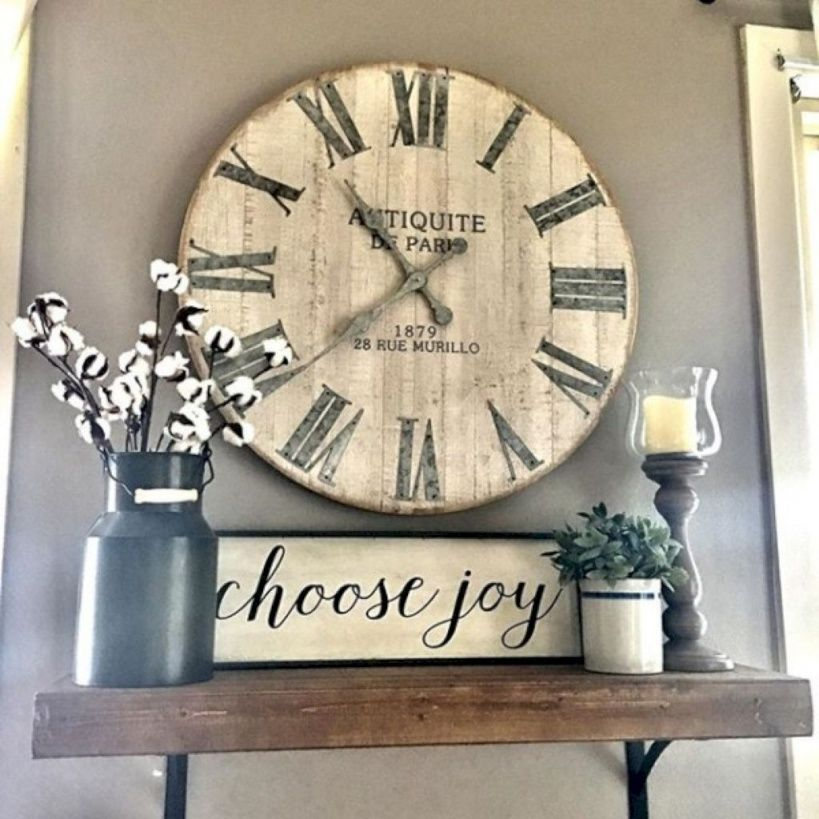 85 Charming Rustic Bedroom Ideas And Designs 4 In 2020: 10 Mindblowing Inspirational Farmhouse Living Room Clock
