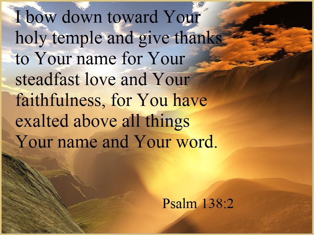 Image result for psalm 138:2