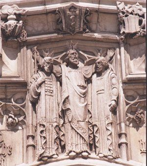 Carving on the exterior of Historic Trinity Lutheran Church - Detroit, Michigan