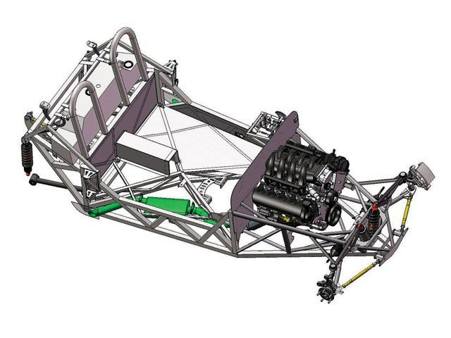The \'33\'s chassis is more than just a frame; it\'s basically a truss ...