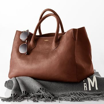 Elisabetta Slouch Handbag, Sauvage Leather, Hazelnut | Leather ...