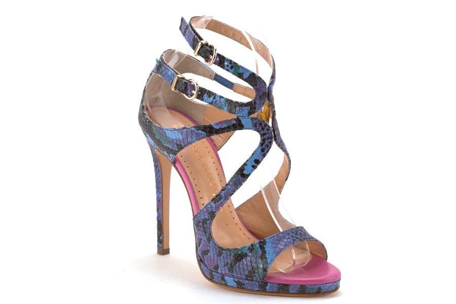 Scarpe Donna marc ellis Sandali tacco alto Pitonato blu fuxia ... 624b6800ed8b