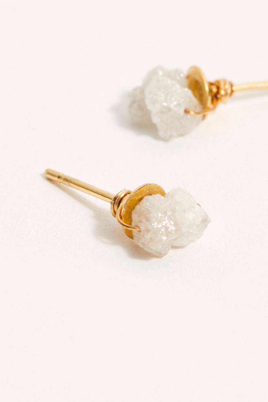 Rough Diamond Stud Earrings Stud earrings, Diamond