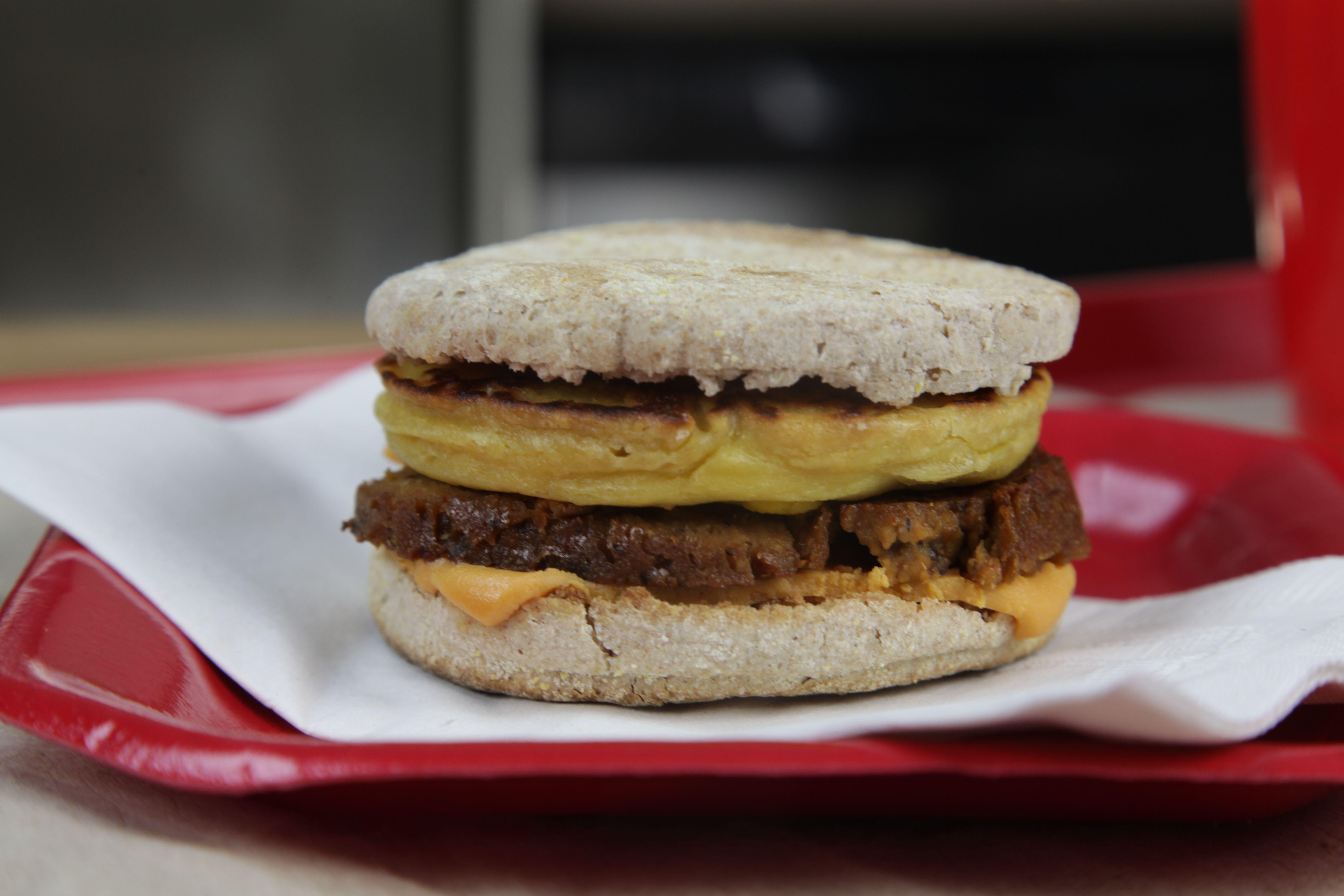 Vegan Mcdonald S Series Sausage Egg Mcmuffin The Edgy Veg Recipe Sausage And Egg Mcmuffin Edgy Veg Sausage And Egg