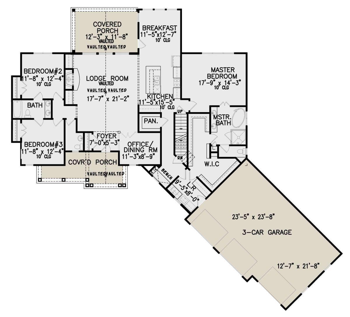 House Plan 699 00280 Craftsman Plan 2 243 Square Feet 3 Bedrooms 2 5 Bathrooms In 2020 How To Plan House Plans Square Feet
