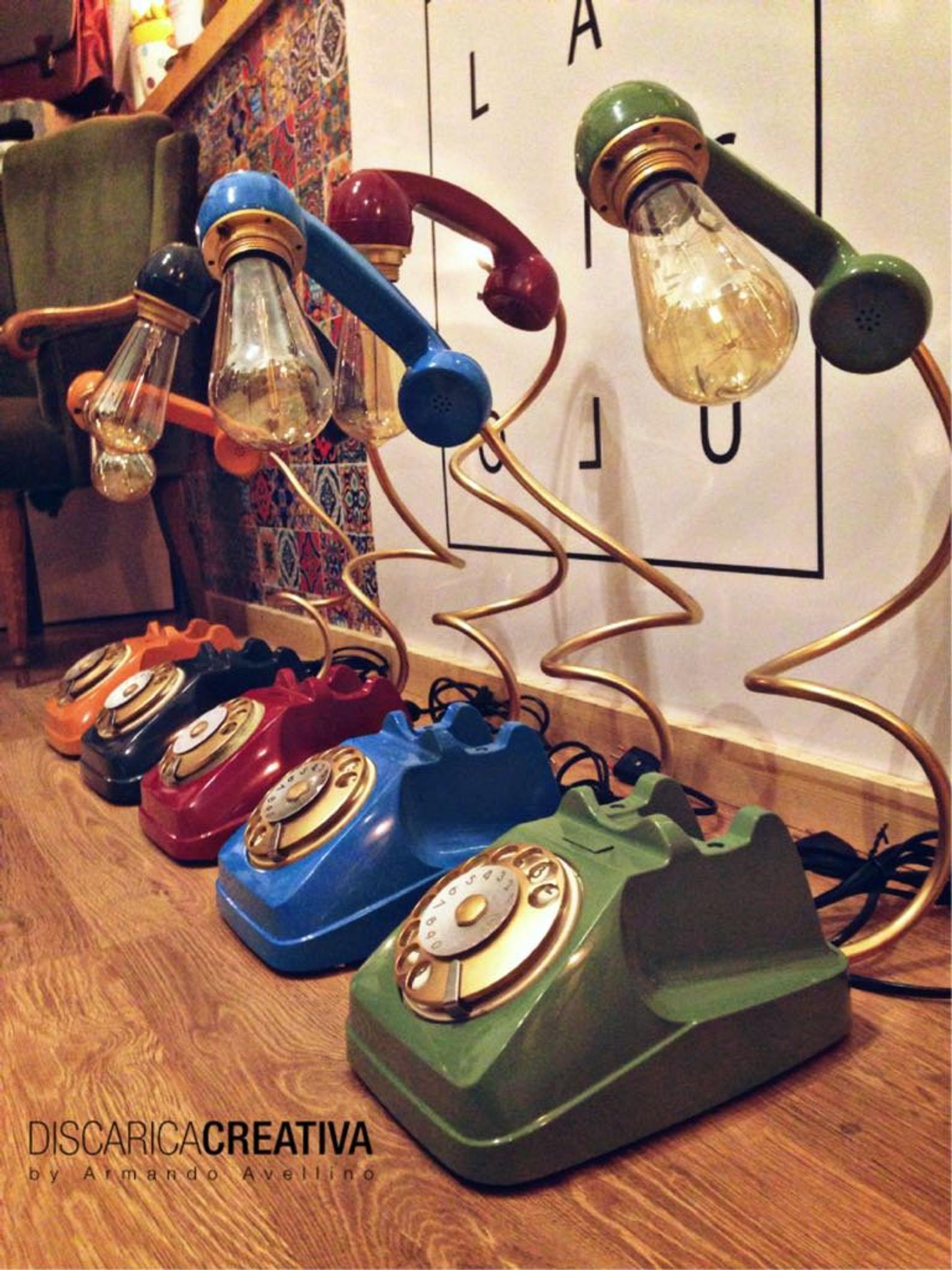 Lamp Phone • Vintage Desk lamp • Office furniture