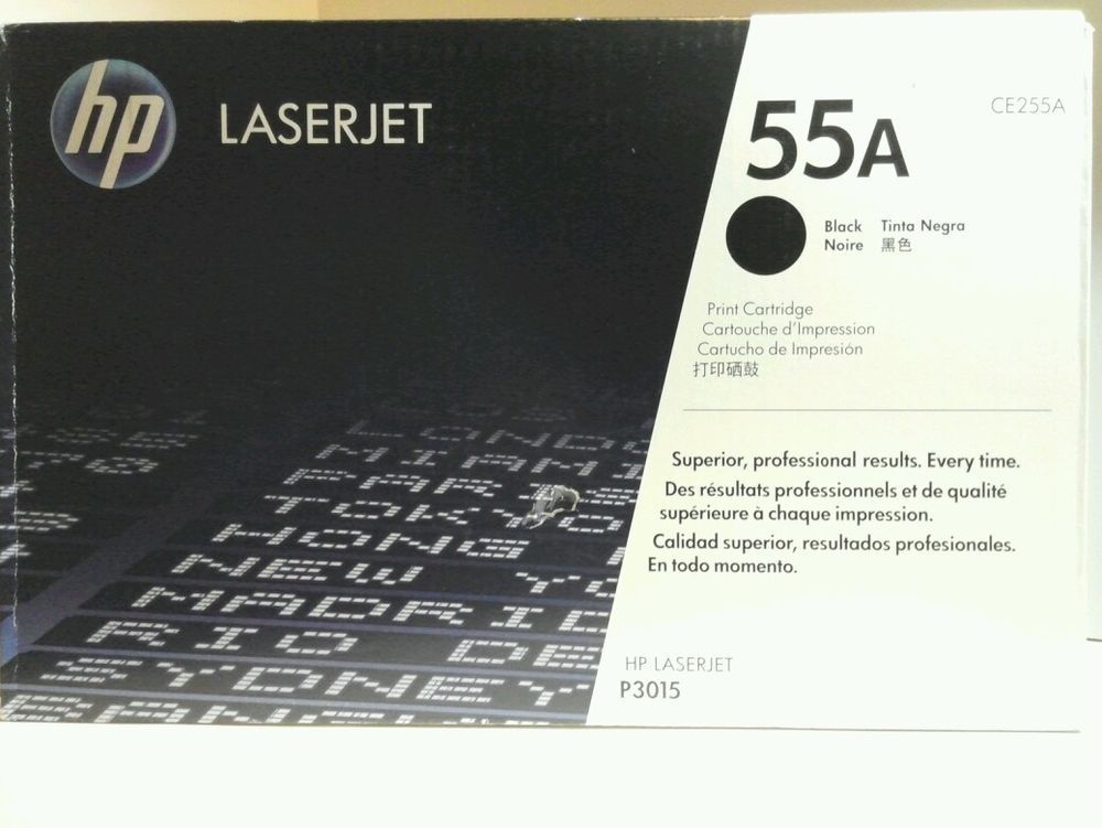 Genuine HP CE255A Laserjet 55A Ink Toner Cartridge Black P3015 FACTORY SEALED