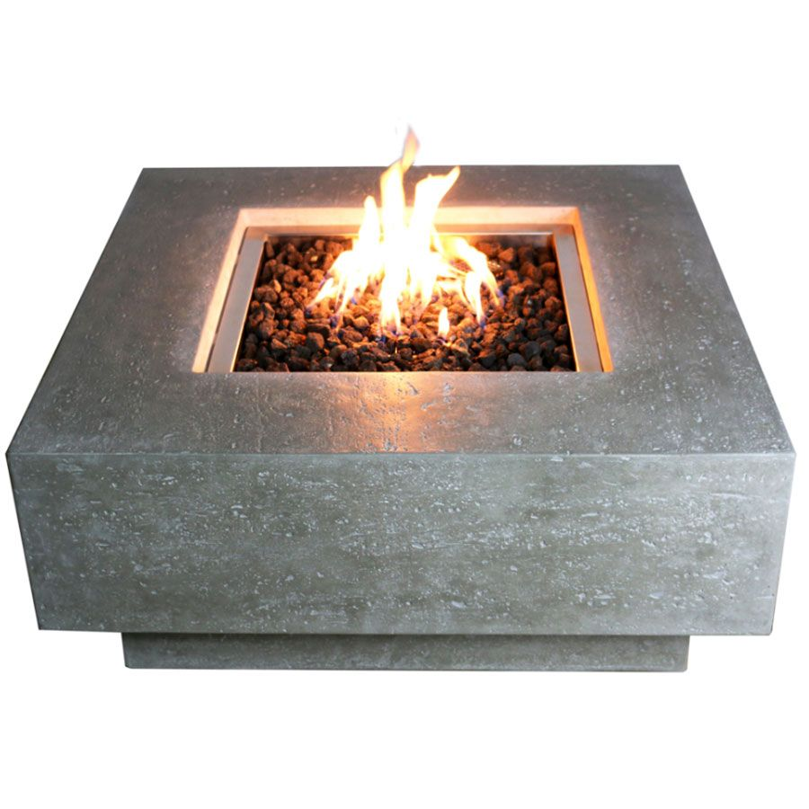 Elementi Manhattan Fire Pit Table Fire Pit Table Concrete Fire Pits Outside Fire Pits