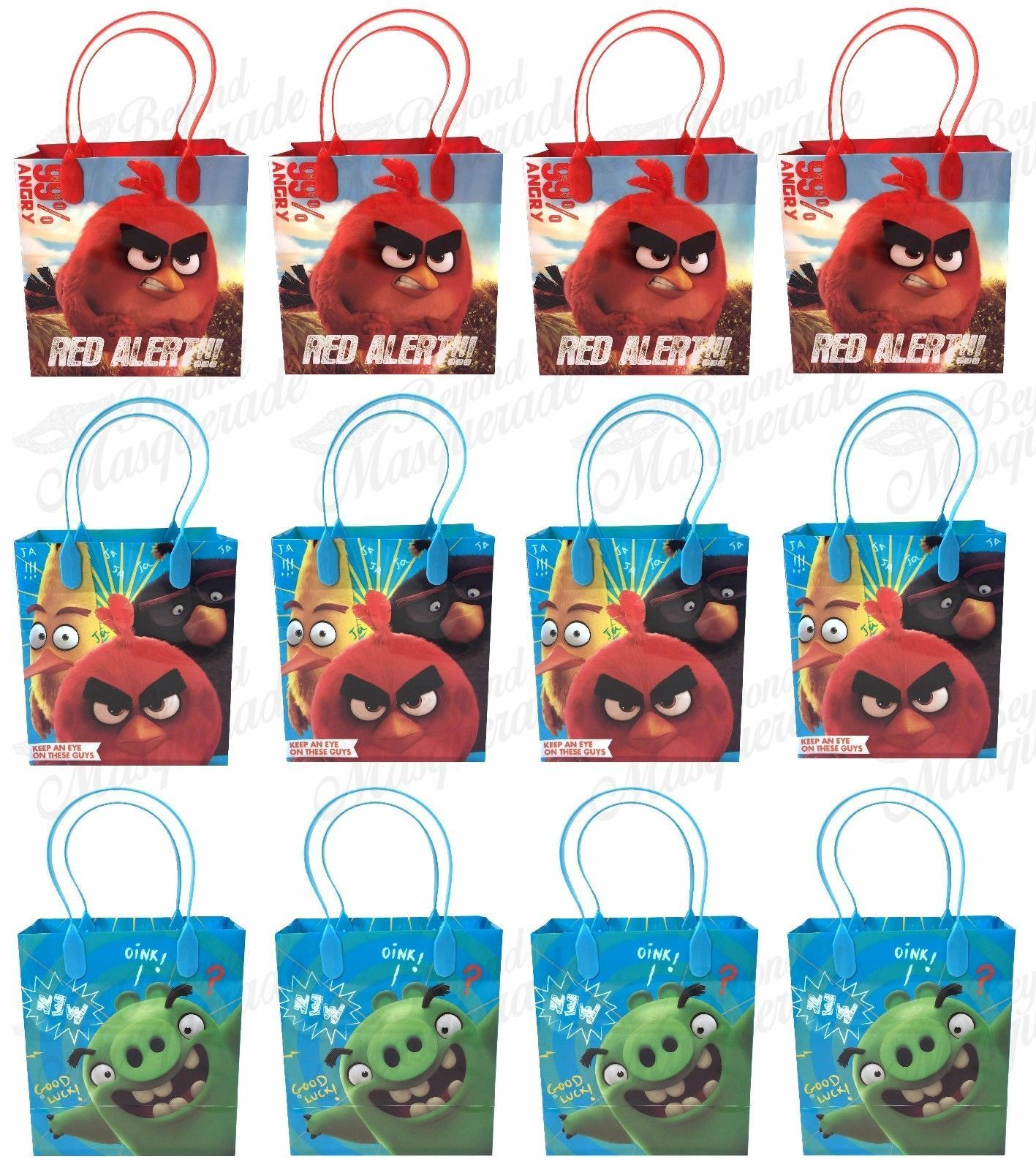 Angry Birds The Movie Party Favor Supplies Goody Loot Gift Bags