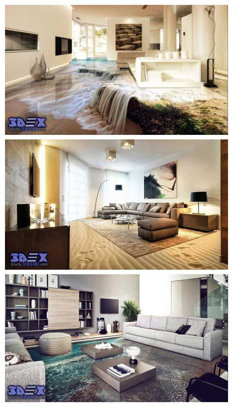 3d Flooring For Living Room Epoxy Floor Murals What Should You Know About 3D Before Buying And How To Install Art Yourself