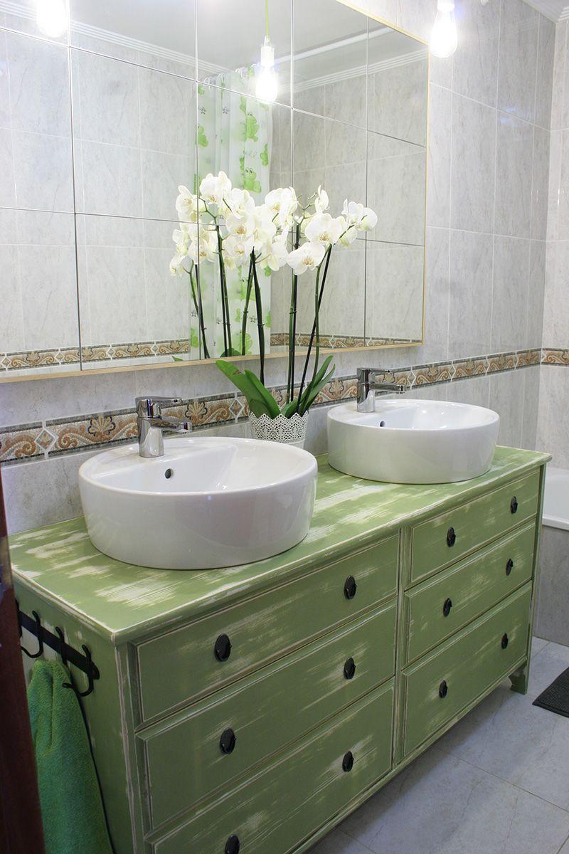 Ikea hacks de c moda a lavabo doble para el ba o lavabo - Muebles de lavabo ikea ...