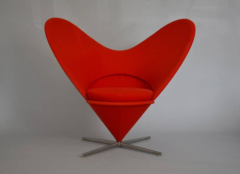 Heart Chair by Verner Panton | From a unique collection of antique and modern loveseats at https://www.1stdibs.com/furniture/seating/loveseats/