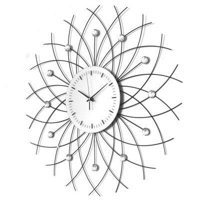 Nowoczesny Zegar Scienny Z Krysztalami Czytelny 6426038215 Oficjalne Archiwum Allegro Clock Wall Clock Decor