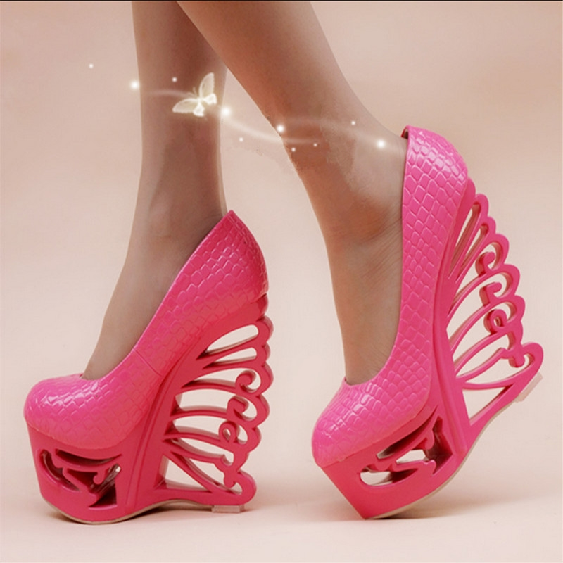 37.06$ Watch here - women shoes new hollow heel 16cm sexy ...