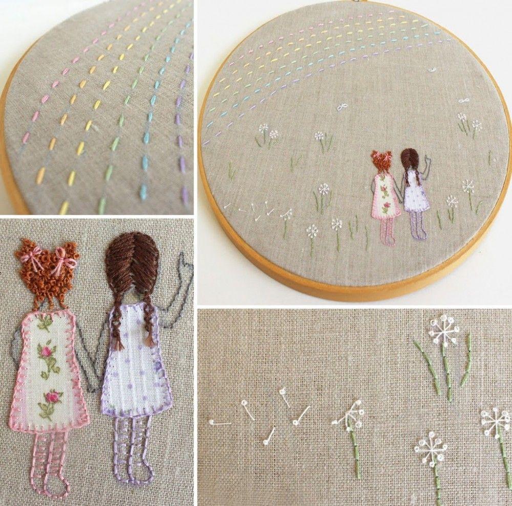 Embroidery Hoop Art Handmade Embroidery Hoop Art Embroidery