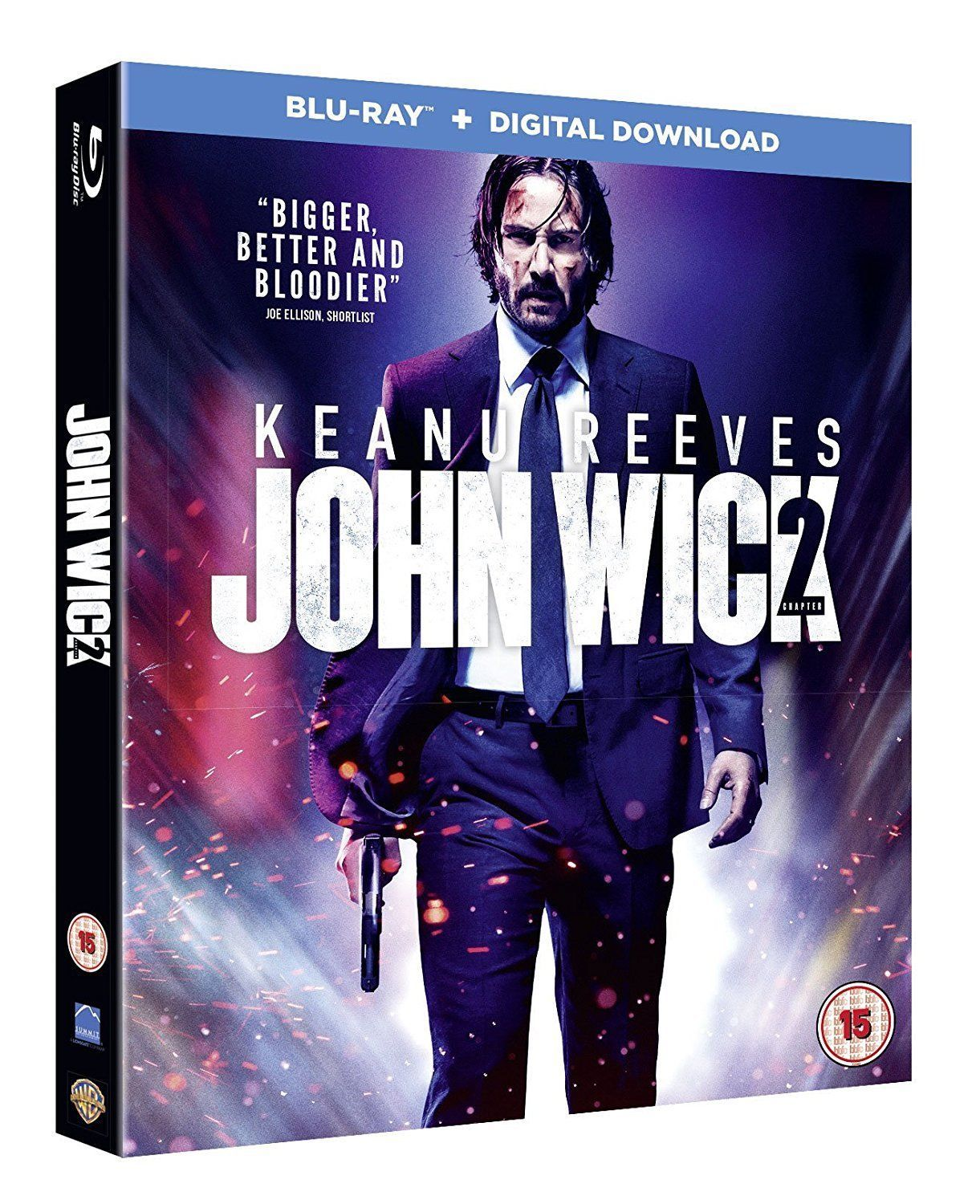John Wick Chapter 2 W Slipcover Blu Ray 2017 Region Free New