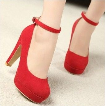 4bba0fa70dc Red wedding shoes vintage high-heeled shoes thick heel platform shoes women  lacing velvet bridal shoes