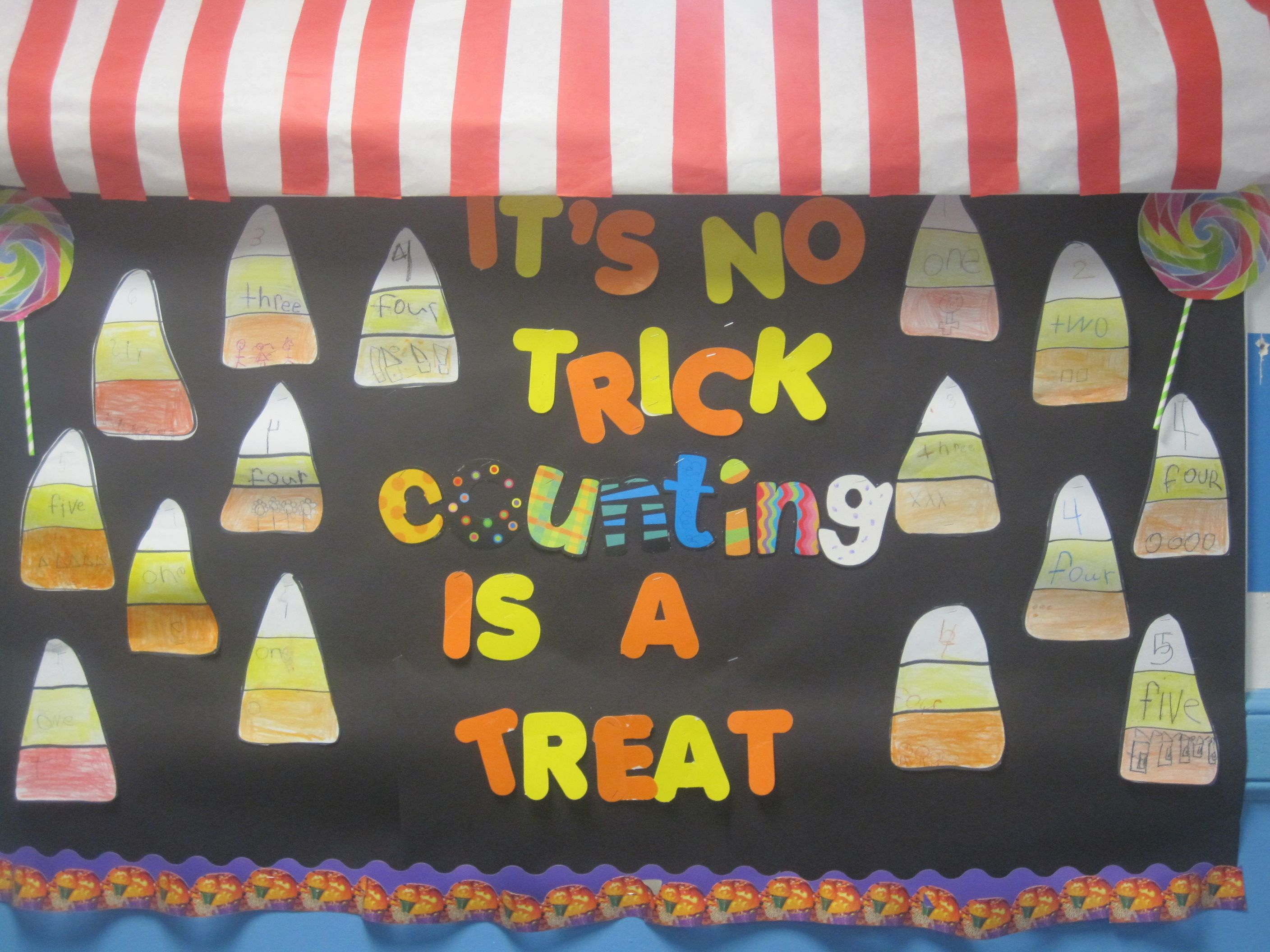 Math Counting Bulletin Board Candy Corn Shows The 3
