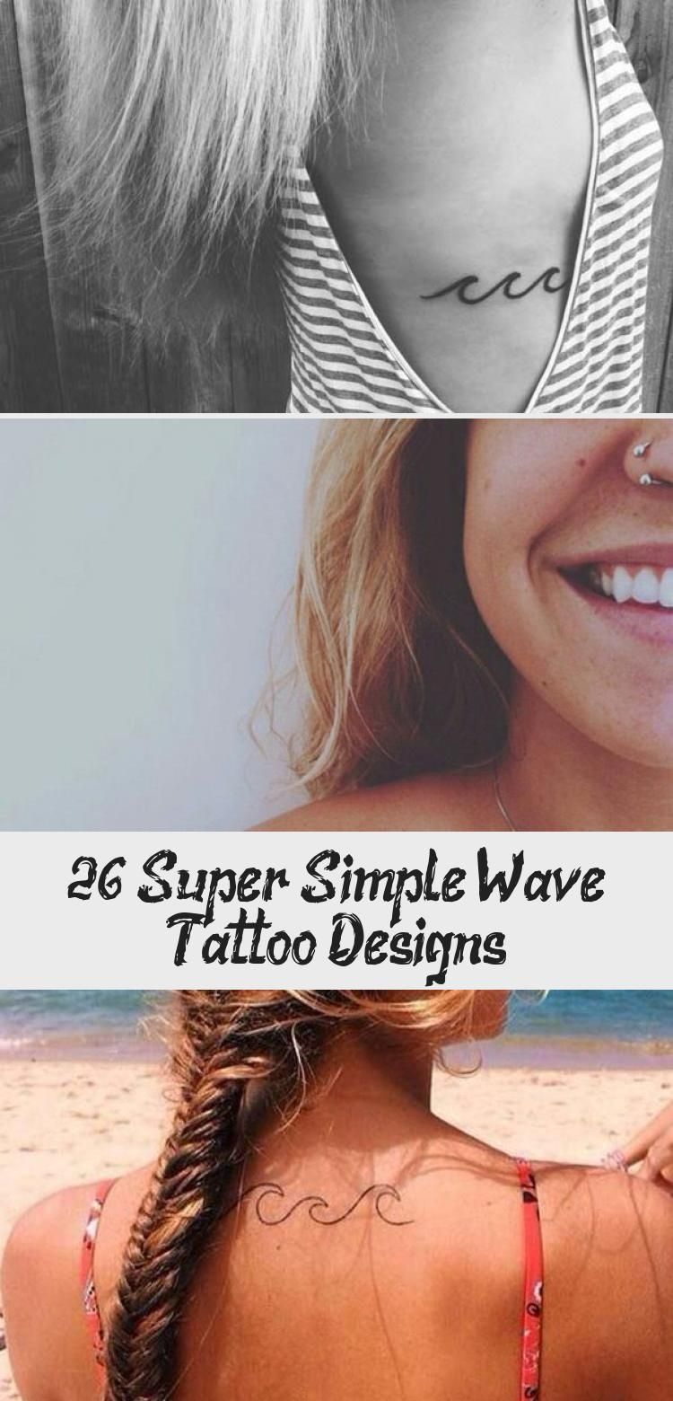 26 Super Simple Wave Tattoo Designs – Tattoo –  Minimalistic Wave Tattoo on Ribcage #minimaltattoomodels  – #designs #simple #super