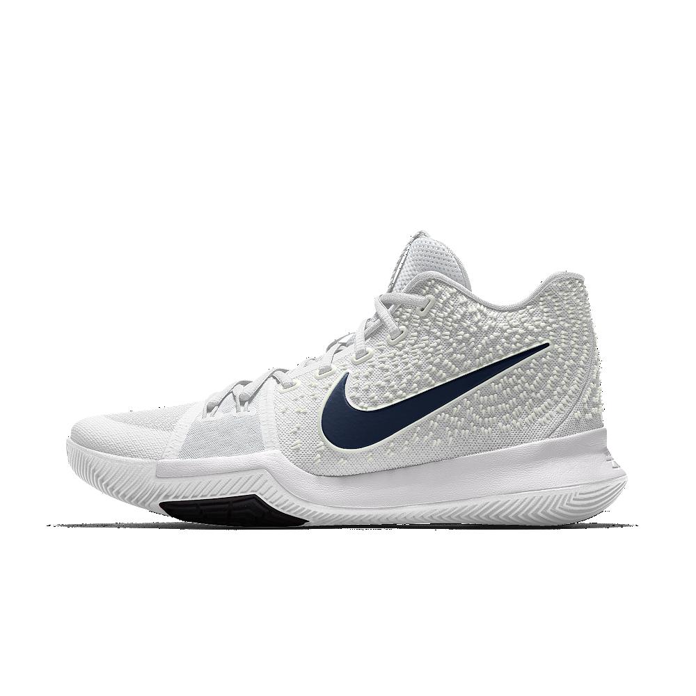 a73f5a46d2 Nike Kyrie 3 iD Big Kids' Basketball Shoe Size 3.5Y (White ...