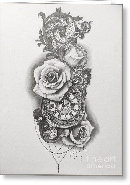 Pocketwatch and Roses by Emma Ridley