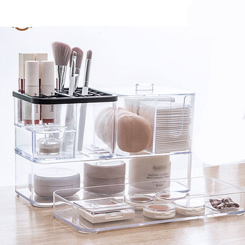 Shop Trending Msjo Acrylic Makeup Organizer For Storage Of Nail Polish Lipstick Makeup Brushes And Makeup Removing Cotton Online In 2020 Acrylic Makeup Acrylic Organizer Makeup Makeup Organization